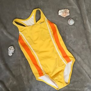 Yellow Swimsuit Speedo Tweens 12